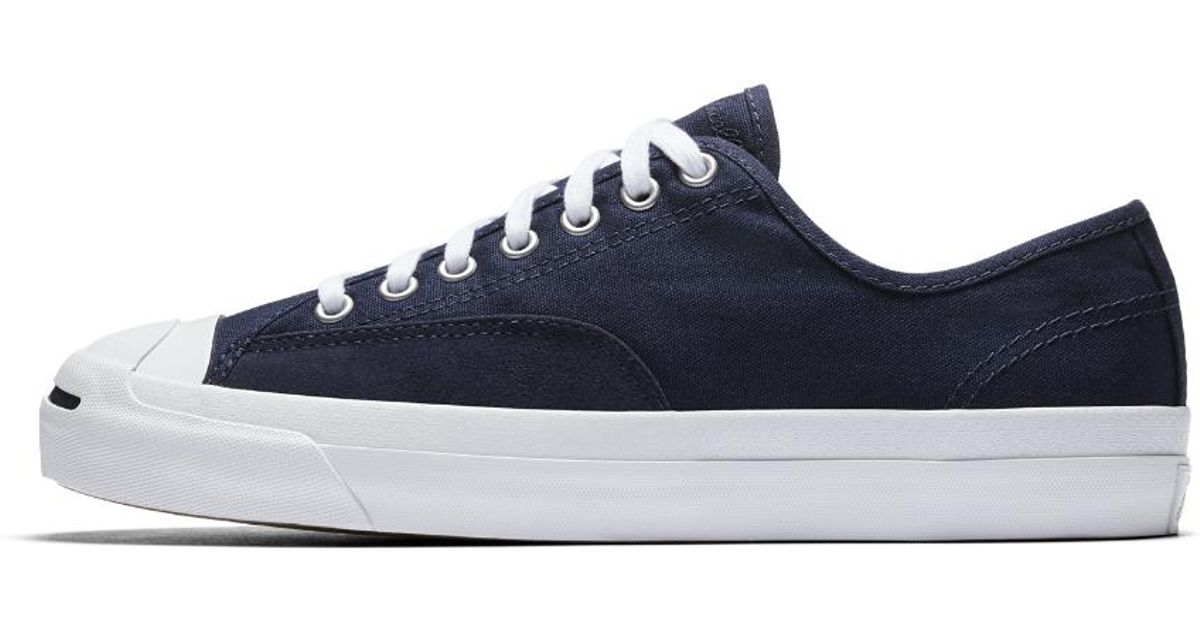 d932c308d696 Lyst - Converse Jack Purcell Pro Canvas Low Top Men s Skateboarding Shoe in  Blue for Men