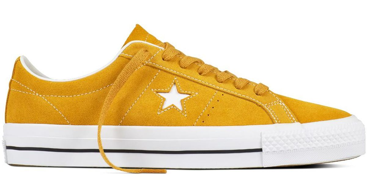 aaec89cfa94bc2 Converse One Star Pro Suede in Yellow for Men - Lyst
