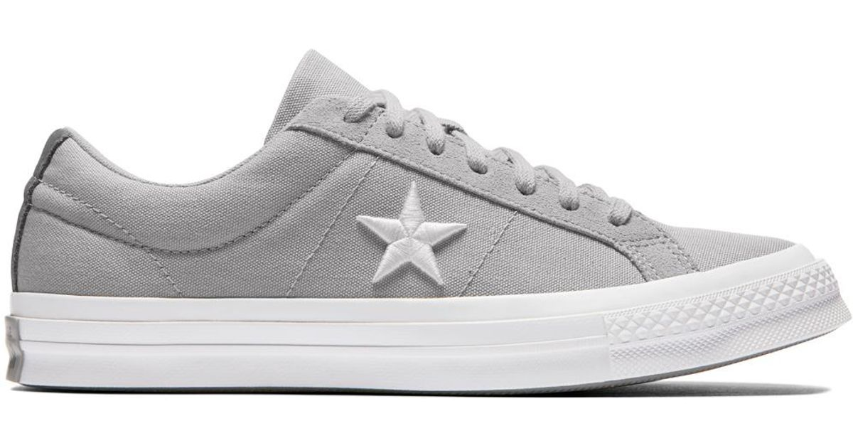 4e56db12f46 Converse One Star Canvas Country Pride in Gray - Lyst