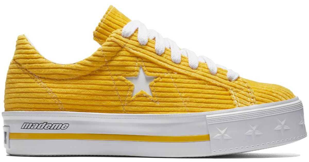 Converse X Mademe One Star Platform in Yellow - Lyst 181453698e4