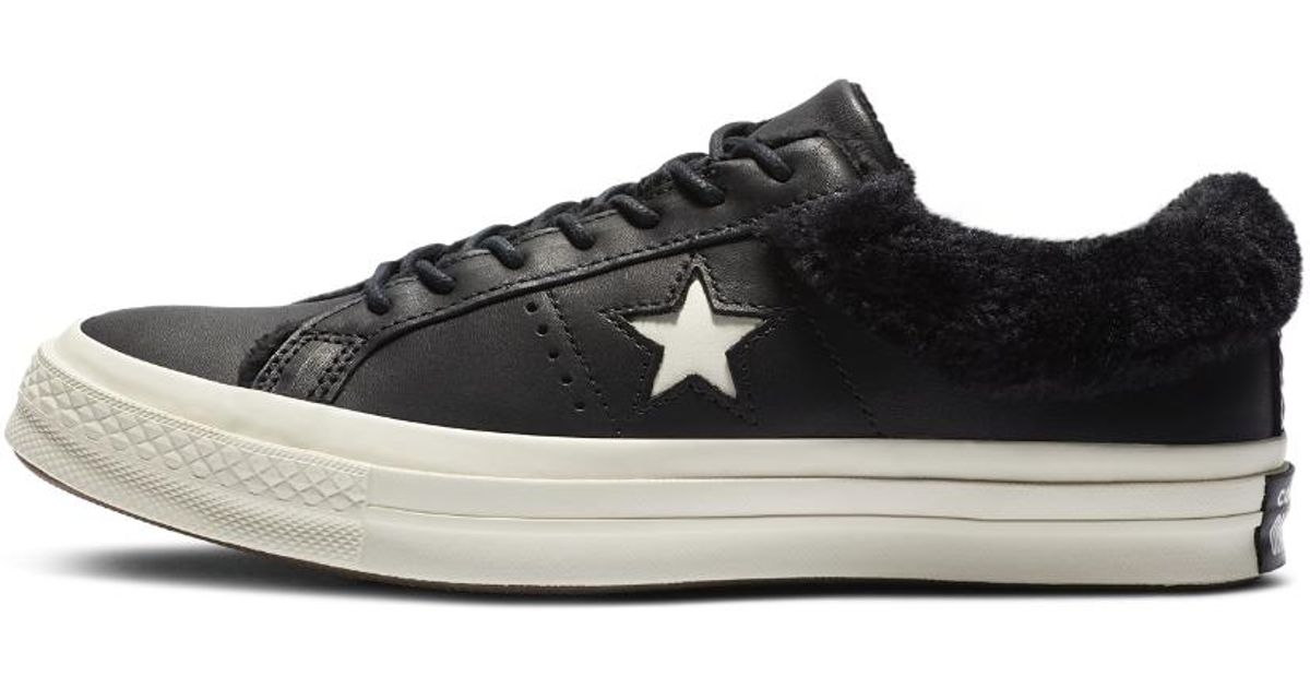 Lyst - Converse One Star Street Warmer Leather Low Top Women s Boot in Black  for Men 8ea3304a9