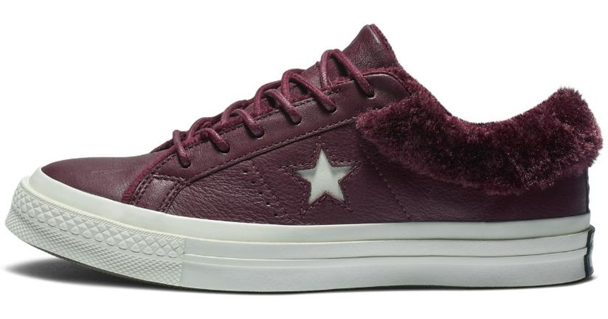 Lyst - Converse One Star Street Warmer Leather Low Top Women s Boot 8a24937fd