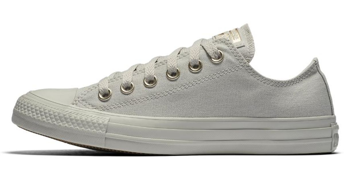 28bdd5a00026 Lyst - Converse Chuck Taylor All Star Mono Glam Low Top Women s Shoe in Gray