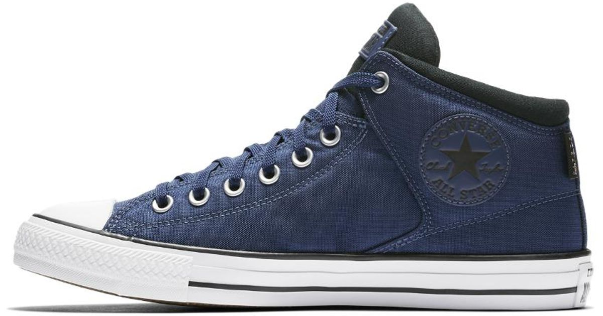 eda8fb42d27f Lyst - Converse Chuck Taylor All Star Cordura High Street High Top Men s  Shoe in Blue for Men