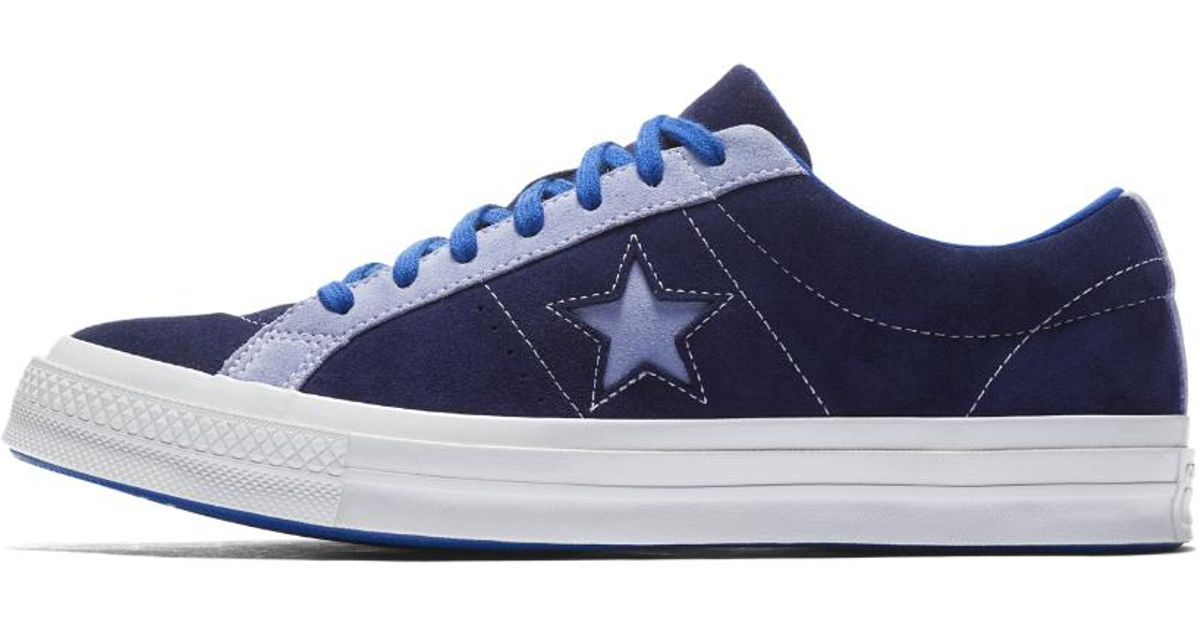 bfa825c3211c Lyst - Converse One Star Carnival Low Top Shoe in Blue for Men