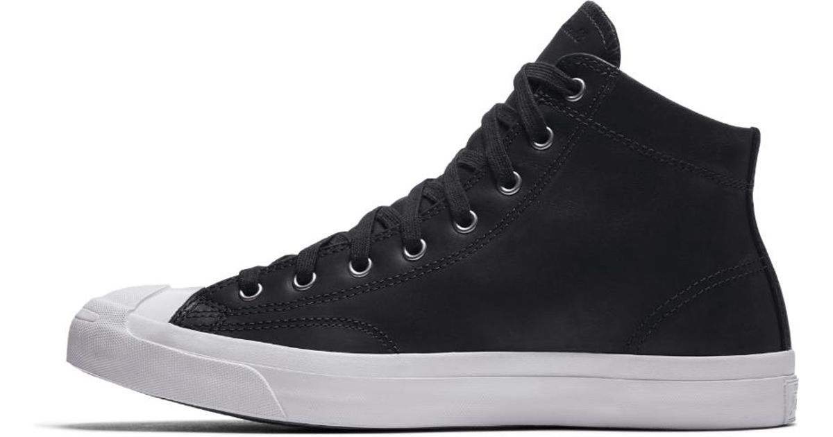 82d17ce5c4ef Lyst - Converse Jack Purcell Mid Boot Leather High Top Men s Shoe in Black  for Men