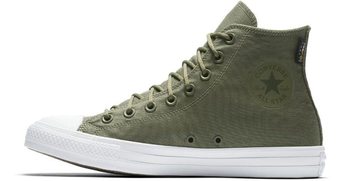 14f3f3bdbc9 Lyst - Converse Chuck Taylor All Star Cordura High Top Shoe in Green for Men