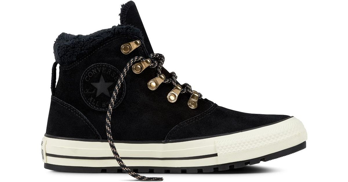 e2e8f13bb100 Converse Chuck Taylor All Star Ember Boot Suede And Faux Fur in Black for  Men - Lyst