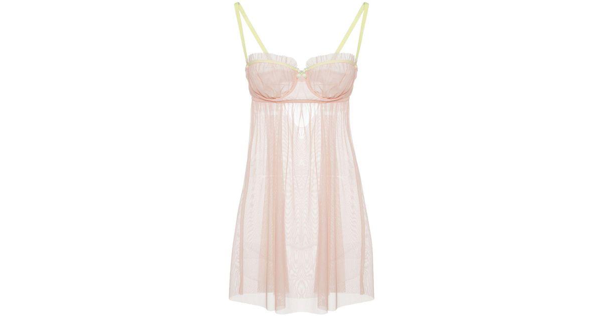 eacf1c69f2b Lyst - Cosabella Juliette Sheer Underwire Babydoll in Pink