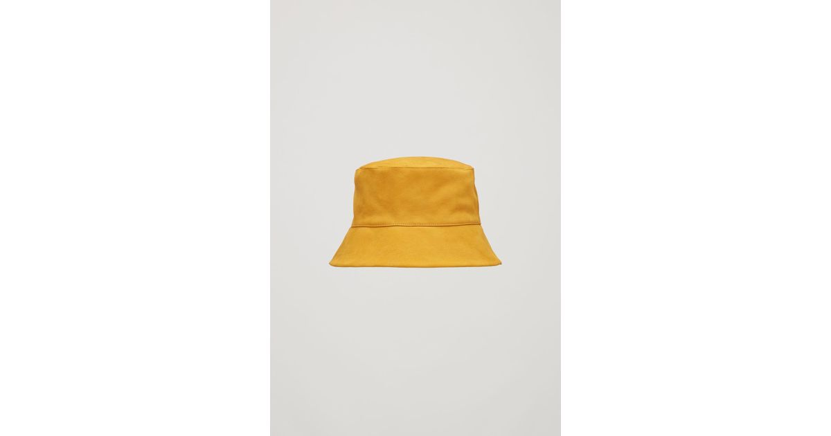 COS Nubuck Leather Bucket Hat in Yellow - Lyst 8a1beadd8ba5