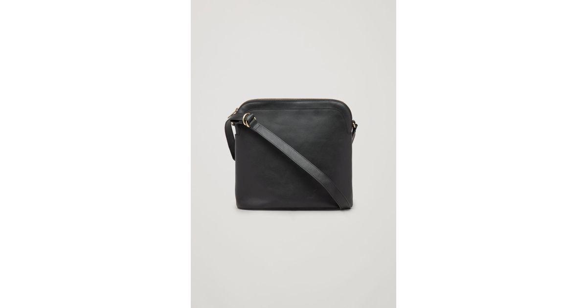 30a72cbf7f3 Lyst - COS Medium Leather Crossbody Bag in Black