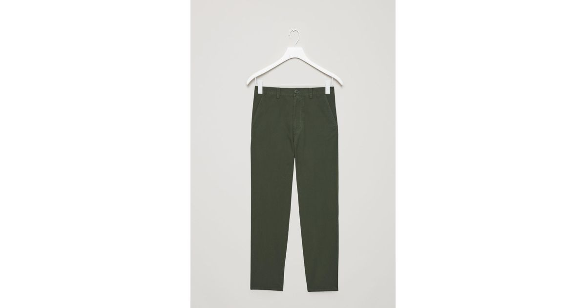 dc3044761b7dd COS Relaxed Button-up Chinos in Green - Lyst