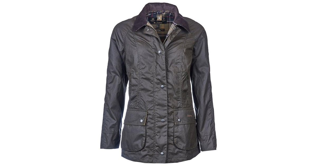 5f6e88c8e759 Ladies Green Barbour Jacket in Beadnell Lyst Wax Classic aw16 gtR4a6a