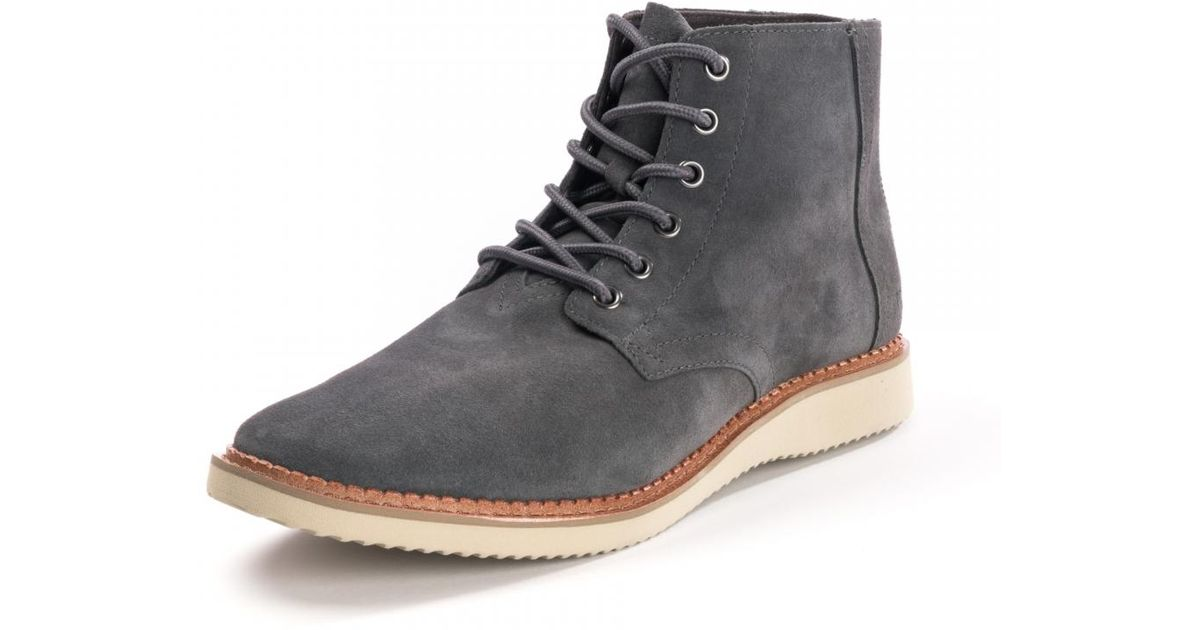 ddf1688c7ca Lyst - TOMS Porter Forged Iron Grey Suede Mens Boots in Gray for Men