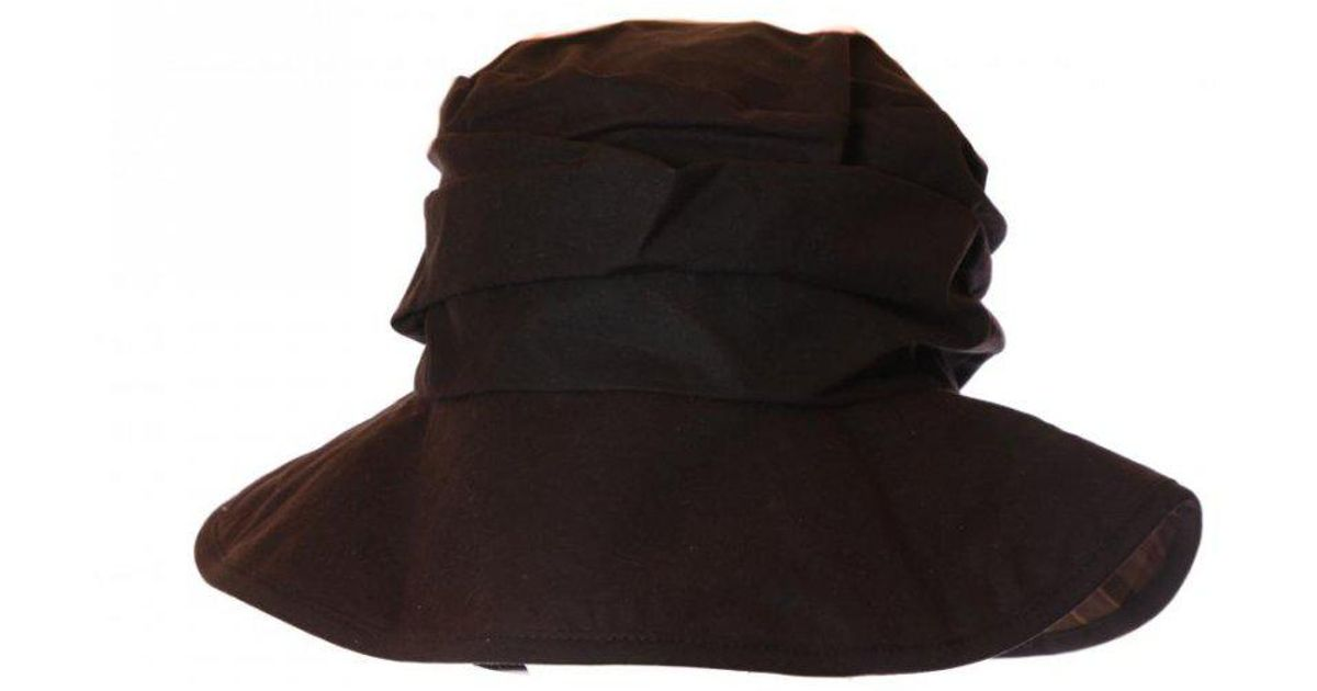 Barbour Ladies Wax Sports Hat in Black - Lyst c0ea01cca598