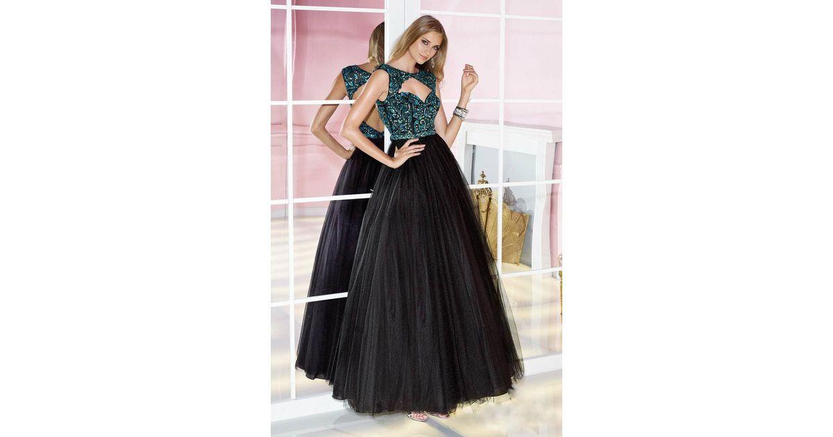 f5c168fffda Lyst - Alyce Paris 6217 Prom Dress In Black Turquoise in Black