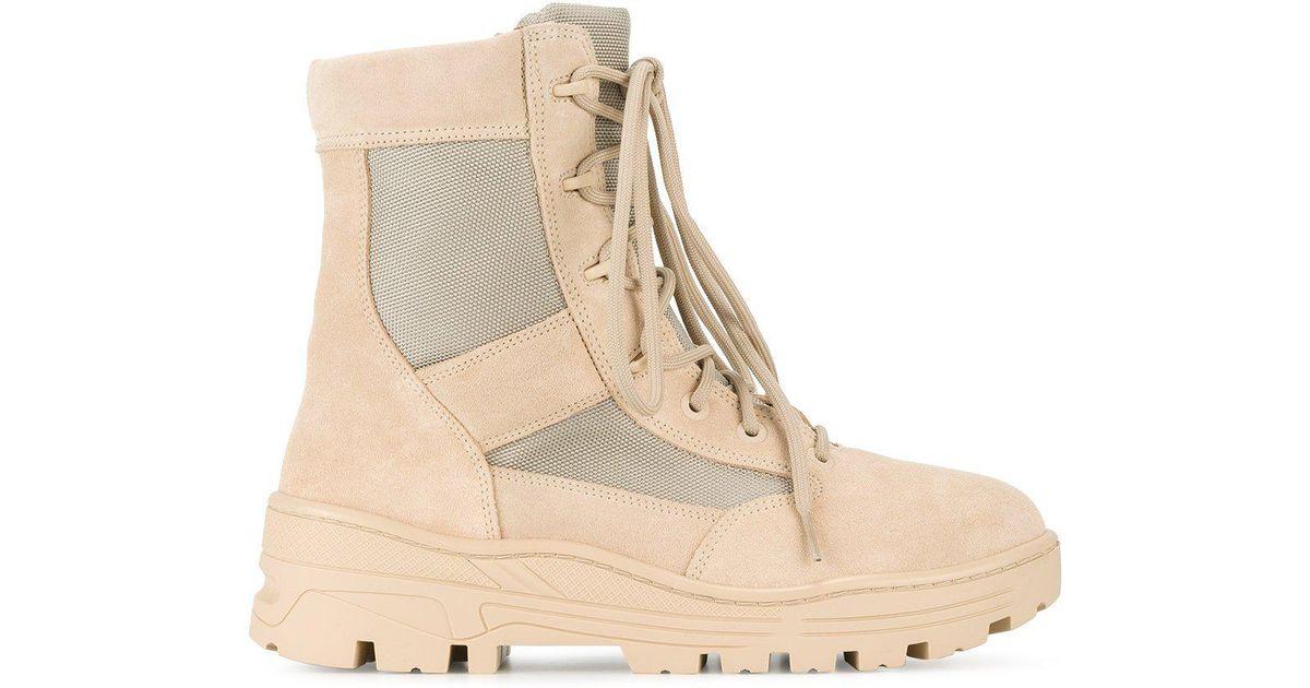 34a371752 Lyst - Yeezy Combat Boot Crosta Light Sand Calfskin Suede in Natural for Men