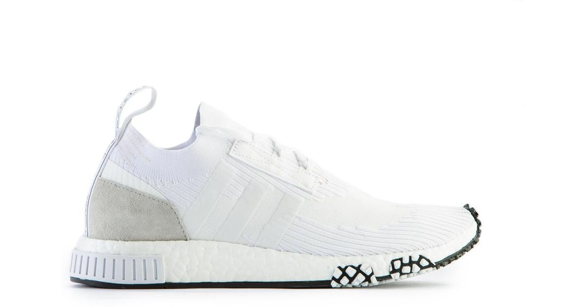 6b15bdc0f adidas Originals Nmd Racer Primeknit Triple White in White for Men - Lyst