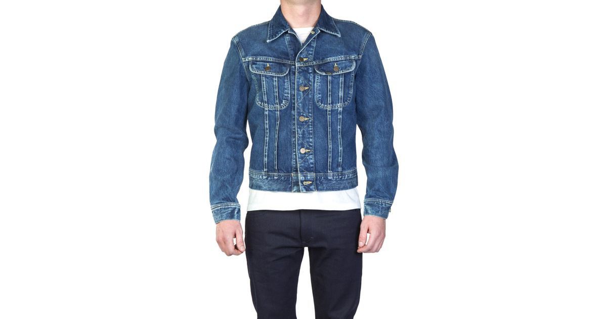 4294cca5 Lee Jeans Rider Jacket 2y Worn in Blue for Men - Lyst