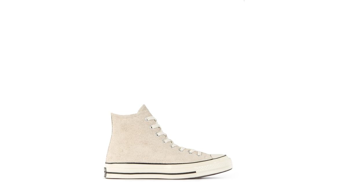 96579d46c0ce Lyst - Converse All Star Chuck  70 Hi Suede Parchment in Natural