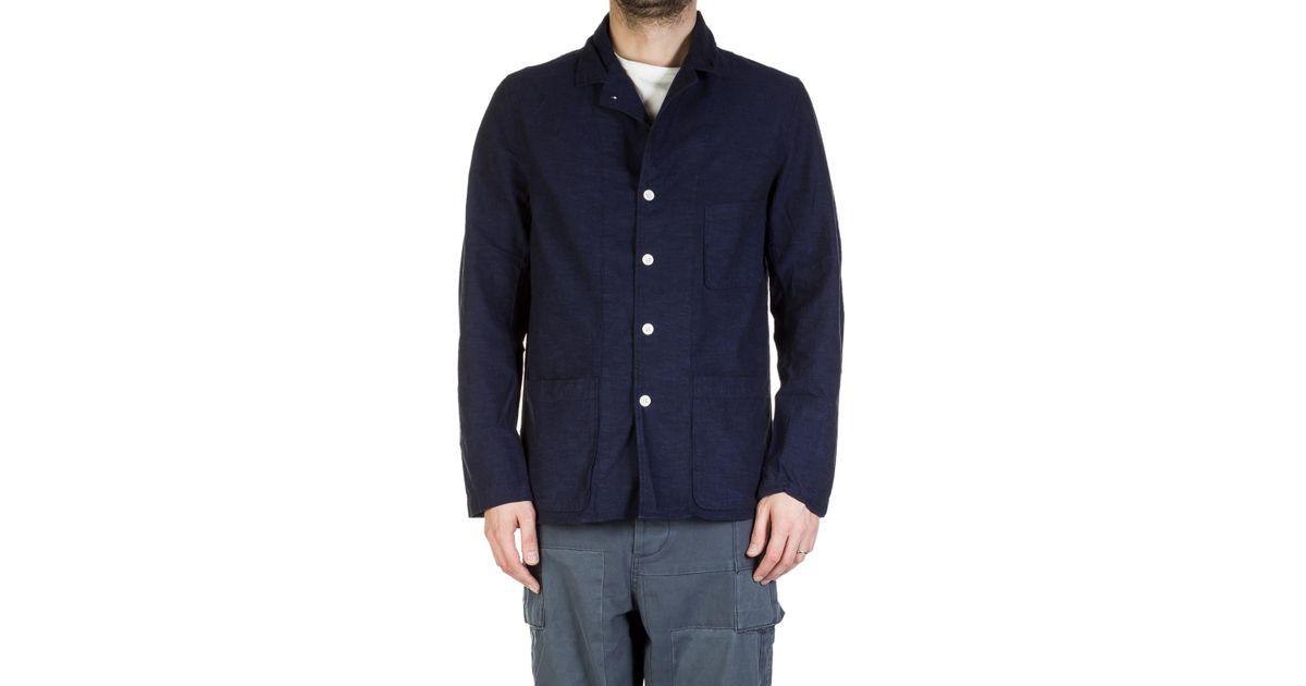 3f5cb08928da Nigel Cabourn Lybro Frankie s Blazer Indigo in Blue for Men - Lyst