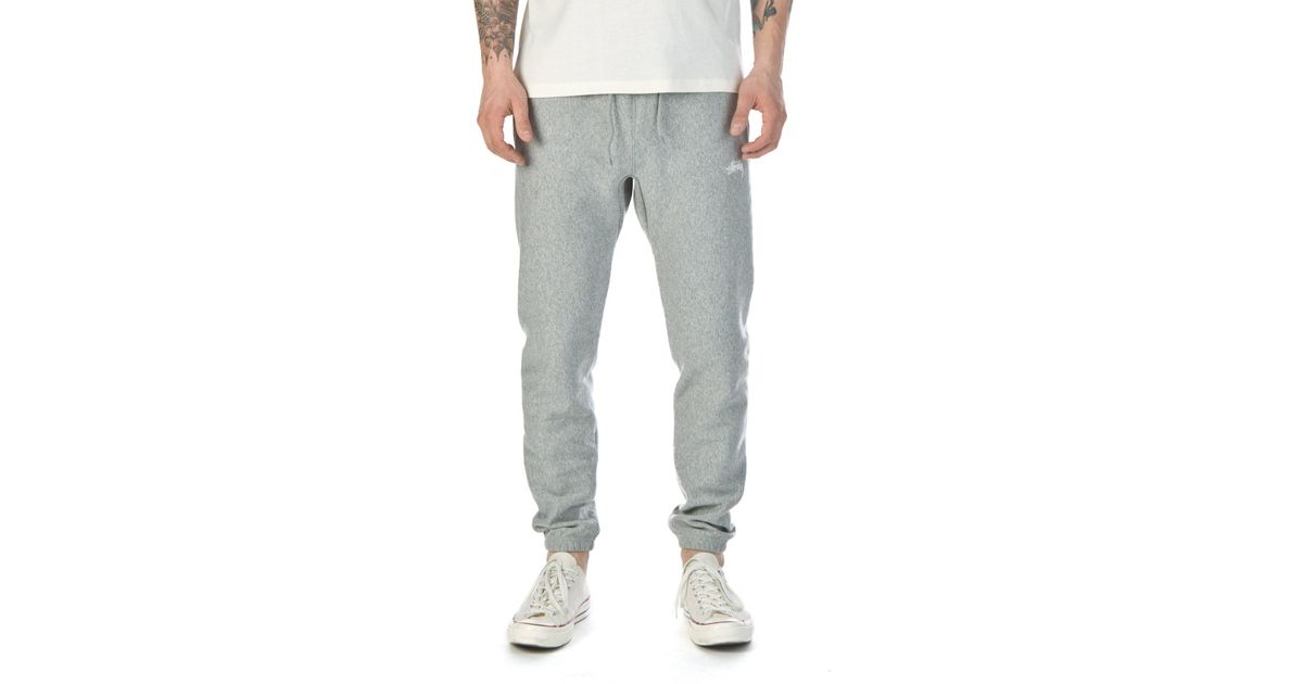 2870c89b Stussy Overdye Stock Fleece Pant Grey Heather in Gray for Men - Lyst
