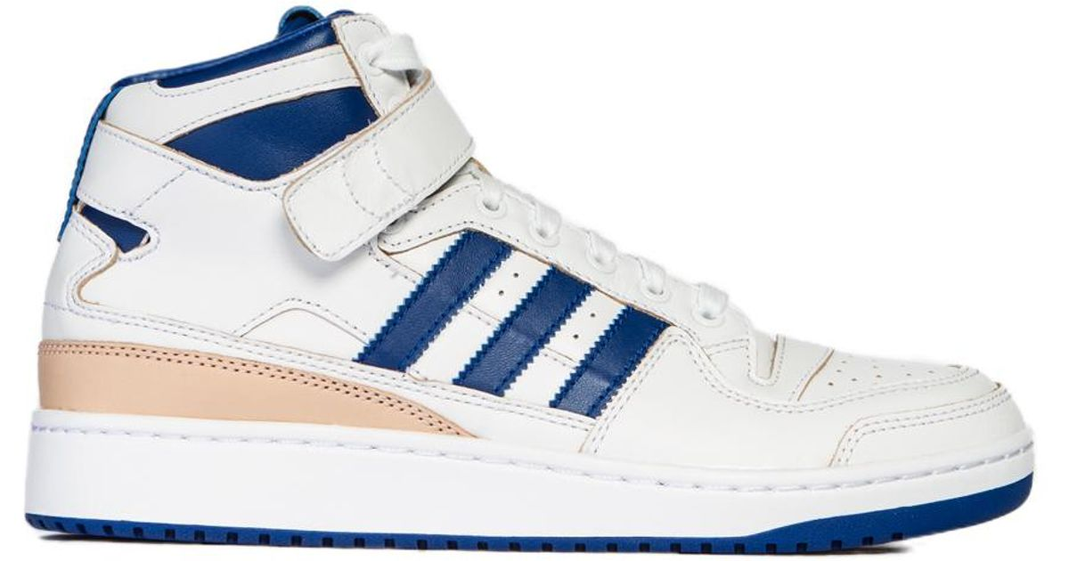 sale retailer 152b6 150d8 Adidas Originals Forum Mid Whiteblue in White for Men - Lyst