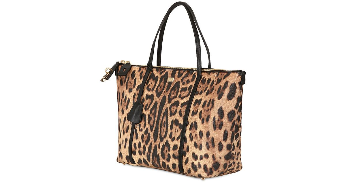 056fe5e1 Dolce & Gabbana Miss Escape Leopard Print Tote Bag - Lyst
