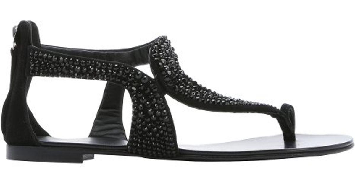 Sandals Rock 10 suede ankle strap black Giuseppe Zanotti yXkmgUmUw