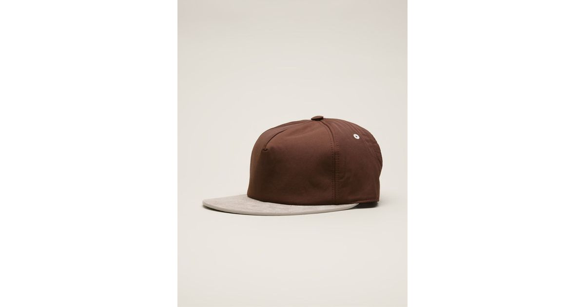 5a9fb86fa88 Lyst - Drkshdw By Rick Owens  Combo  Baseball Cap in Brown for Men