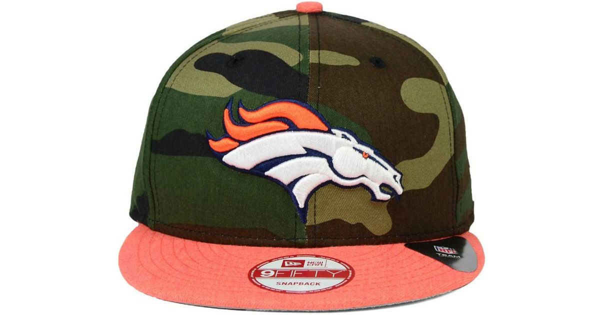 758c69ccb Lyst - Ktz Denver Broncos Camo Heather 9fifty Snapback Cap in Green for Men
