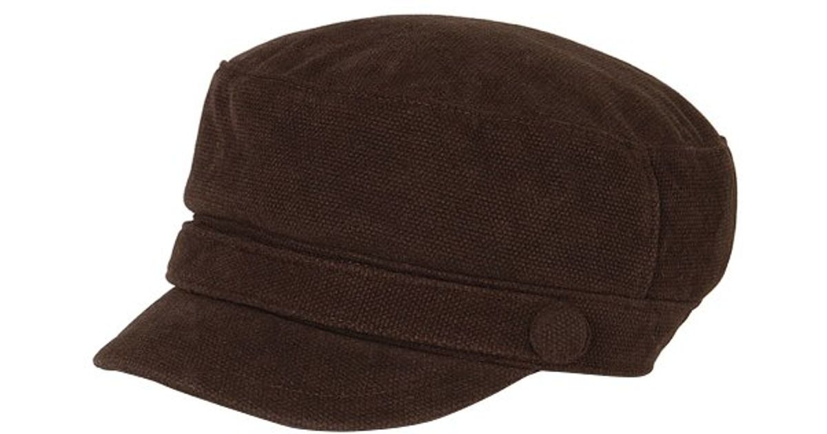 San Diego Hat Company Womens Suede Cord Greek Fisherman in Brown - Lyst 21547783676