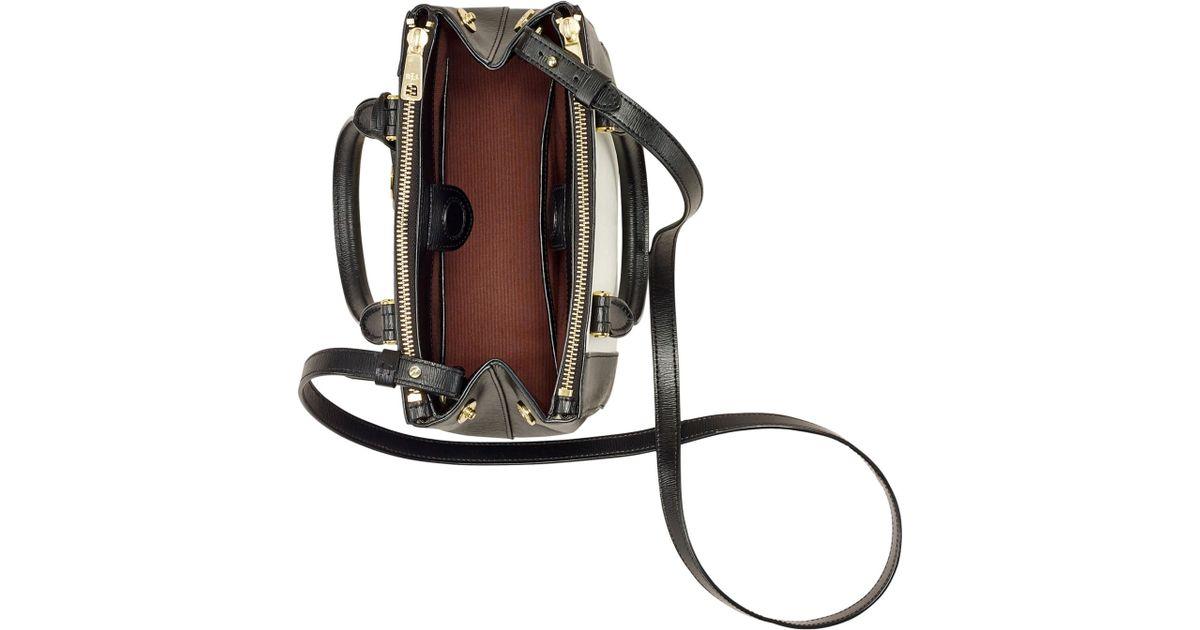 a479bb0da6feb Lyst - Lauren by Ralph Lauren Newbury Spectator Mini Double Zip Satchel in  Black