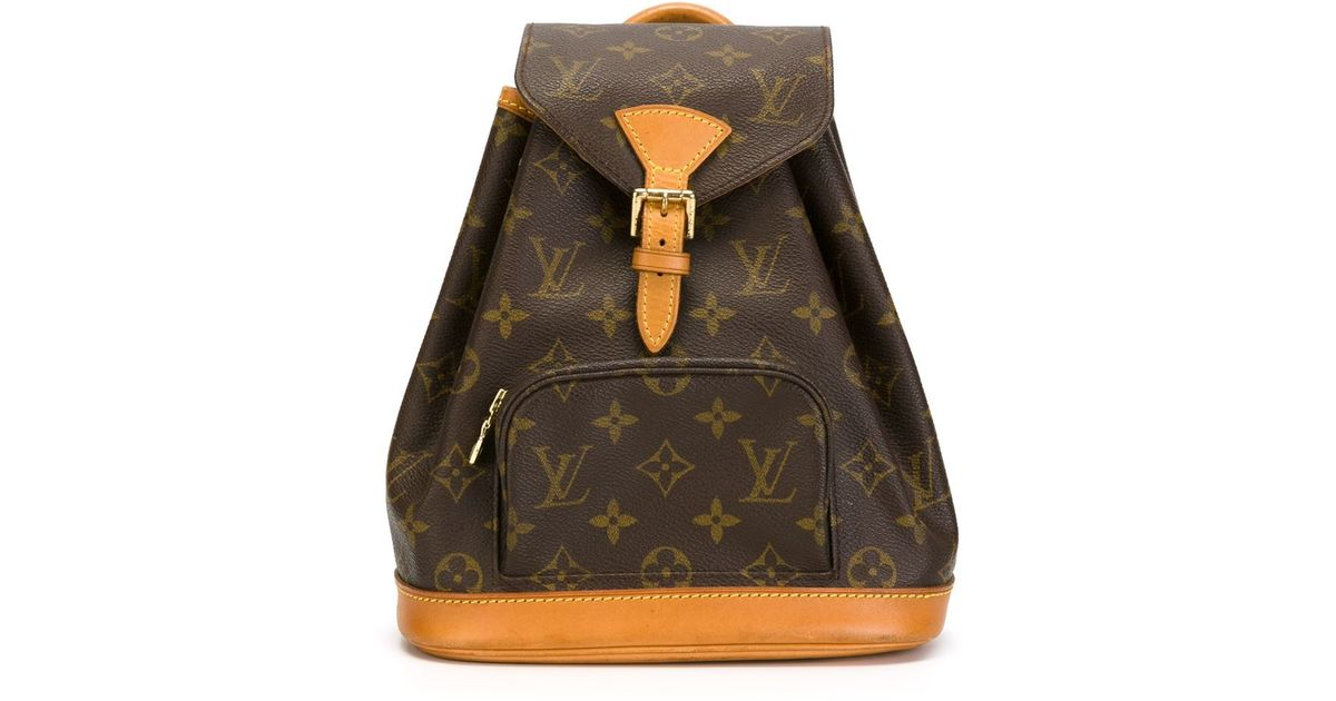 Louis vuitton Logo Print Backpack in Orange for Men | Lyst