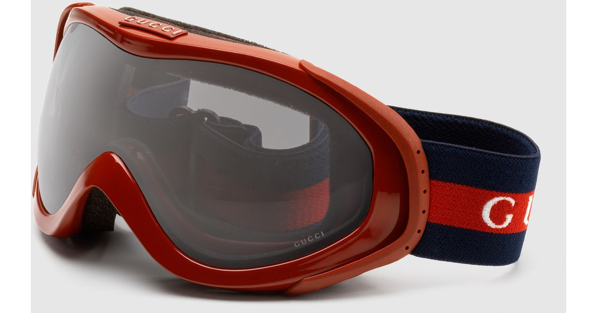 Lyst Gucci Ski Goggles With Logo And Signature Web
