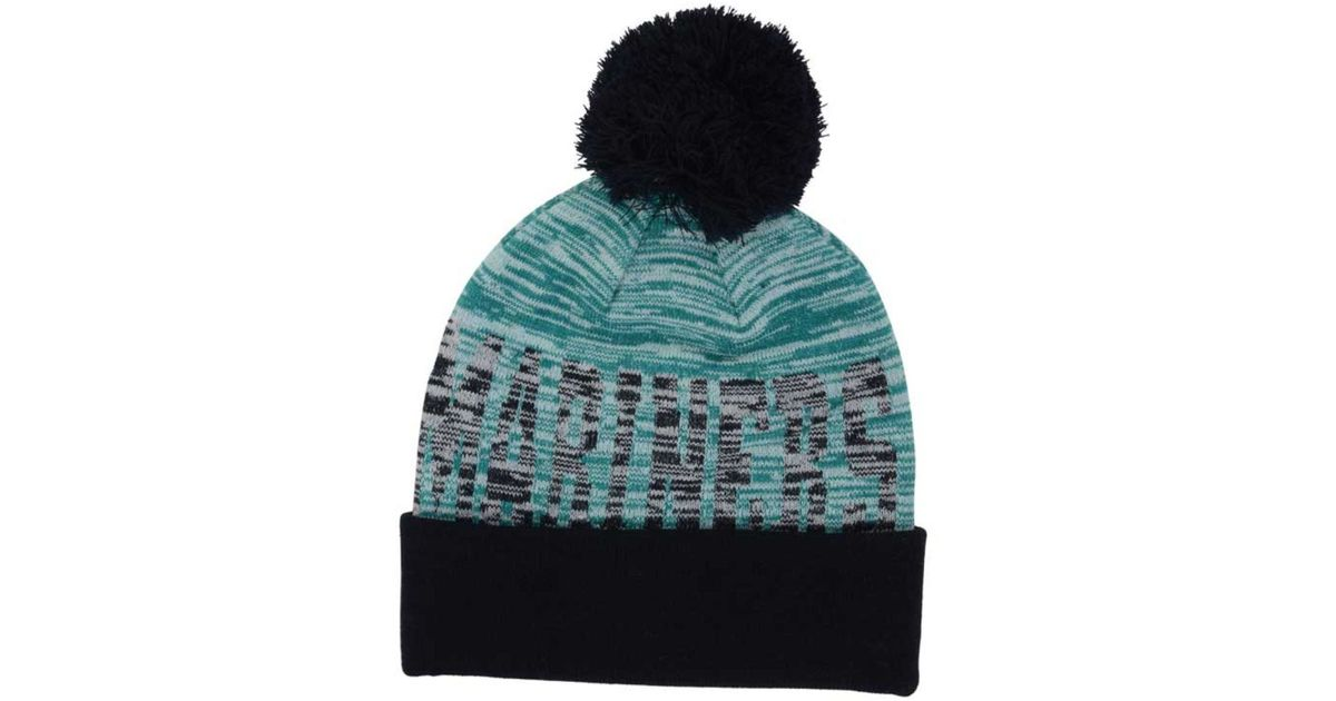 separation shoes 8bebe 9216e ... closeout lyst ktz seattle mariners word fuzz knit hat in blue for men  591c9 2d963