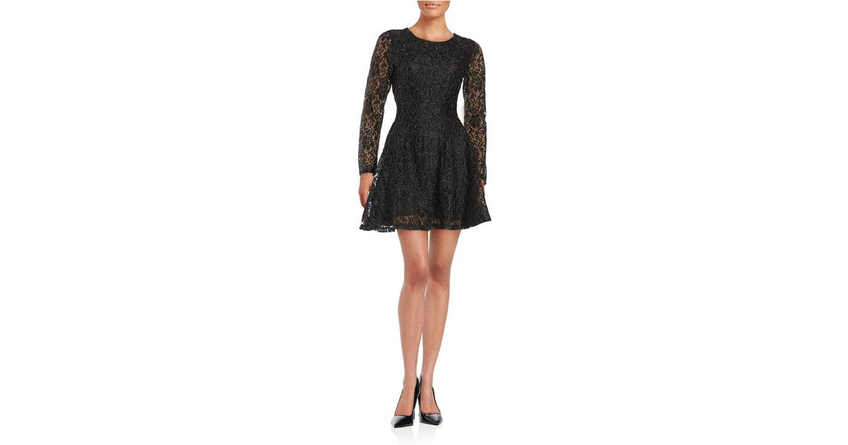 lord taylor floral lace dress in black lyst