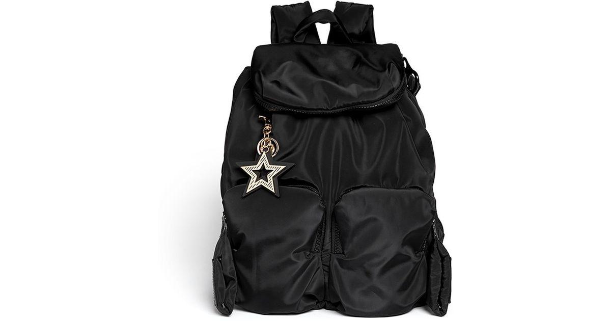 See By Chloé  joy Rider  Nylon Backpack in Black - Lyst 6cb1f6f083dfc