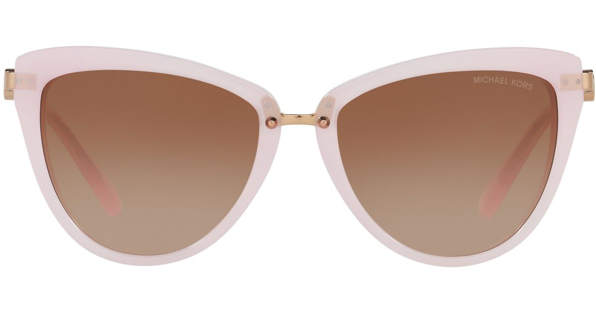 9cd06bc53ab Michael Kors Mk6039 Abela Ii Cat s Eye Sunglasses in Pink - Lyst