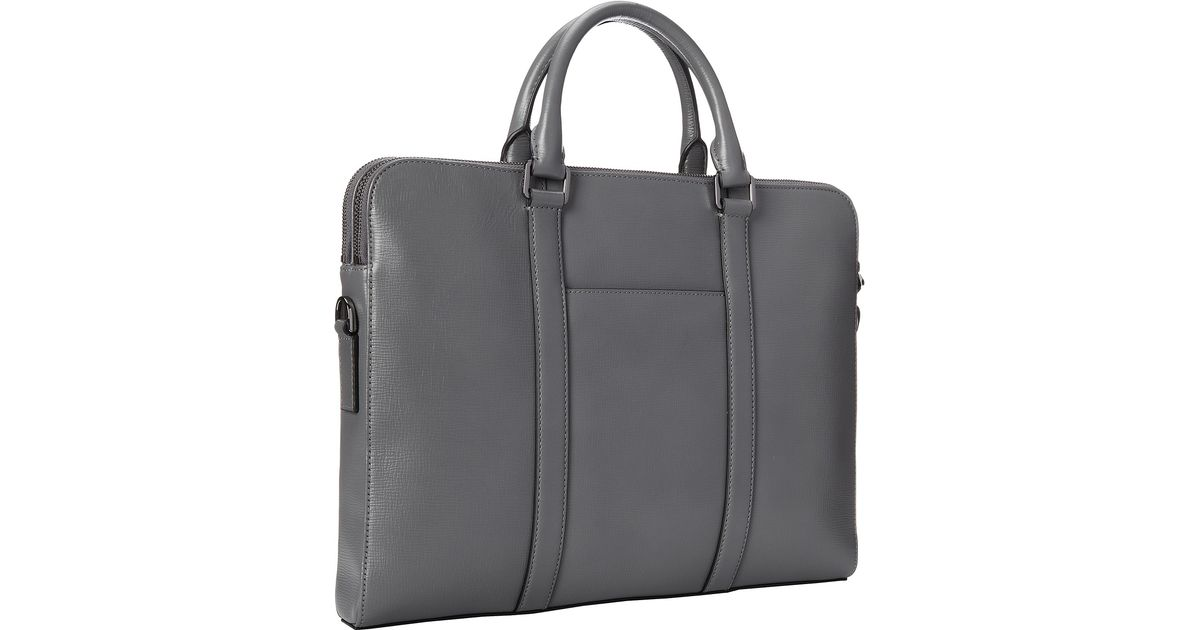 a3a4c9db98f679 Lyst - Michael Kors Warren Double Zip Briefcase in Gray for Men