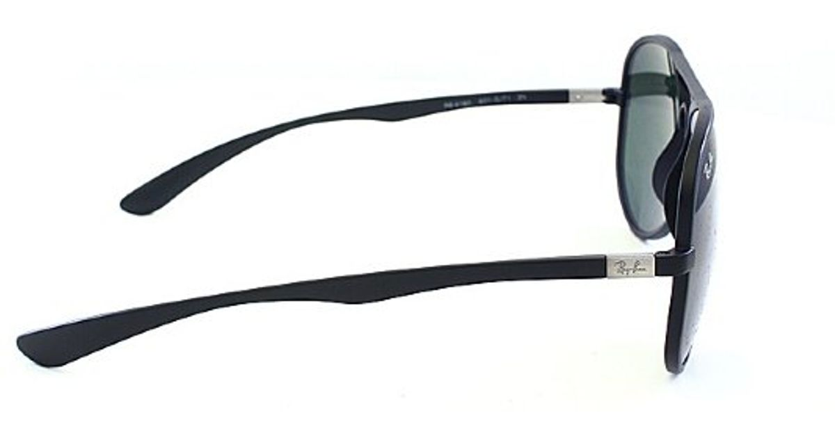 84d015b9008 Lyst - Ray-Ban Ray Ban Tech Rb4180 Liteforce Aviator 601s71 Matte Black  Sunglasses Green Lens in Black for Men