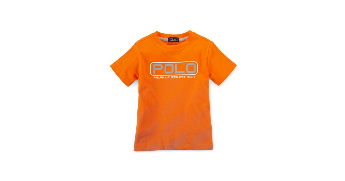 9771e21507c9 ... coupon code for lyst ralph lauren outpost cotton graphic tee in orange  for men 072b1 0d4ad