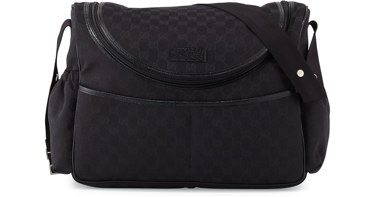 1cc1f3c2a312f2 Lyst Gucci Travel Gg Canvas Diaper Bag W Changing Pad In Black