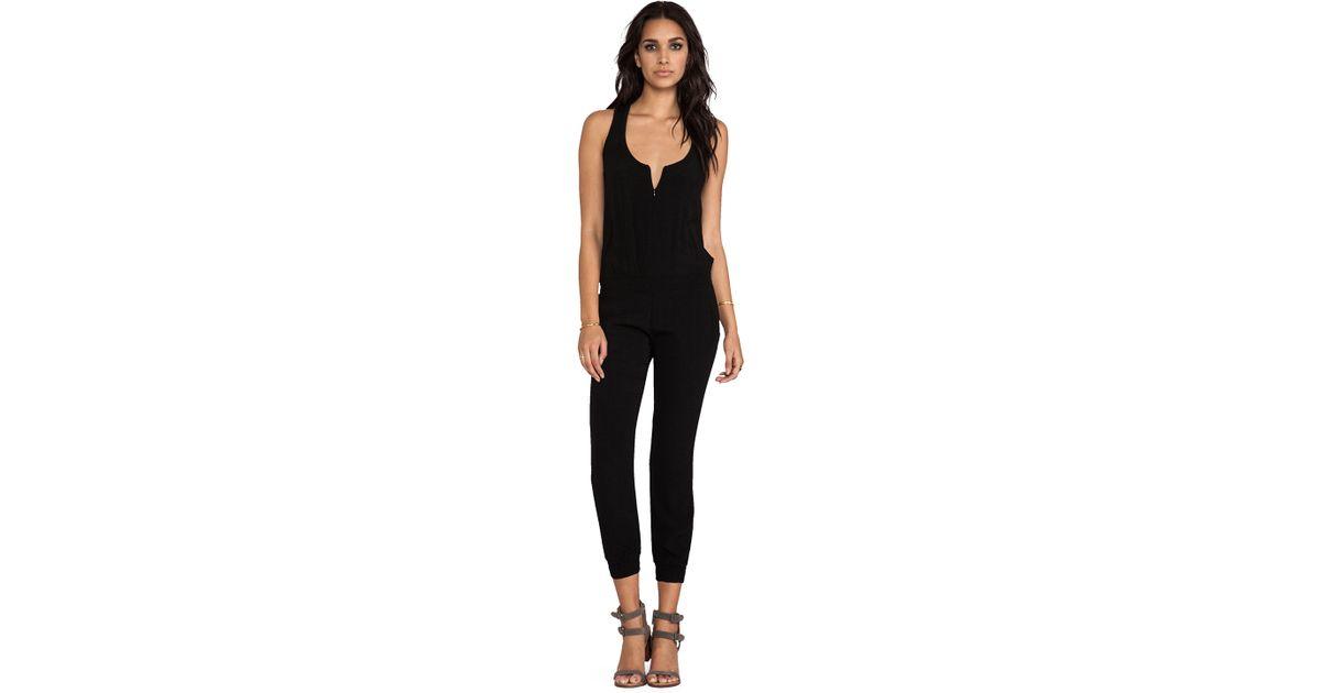 133a159ffedb Lyst - Monrow Crepe Jumpsuit in Black