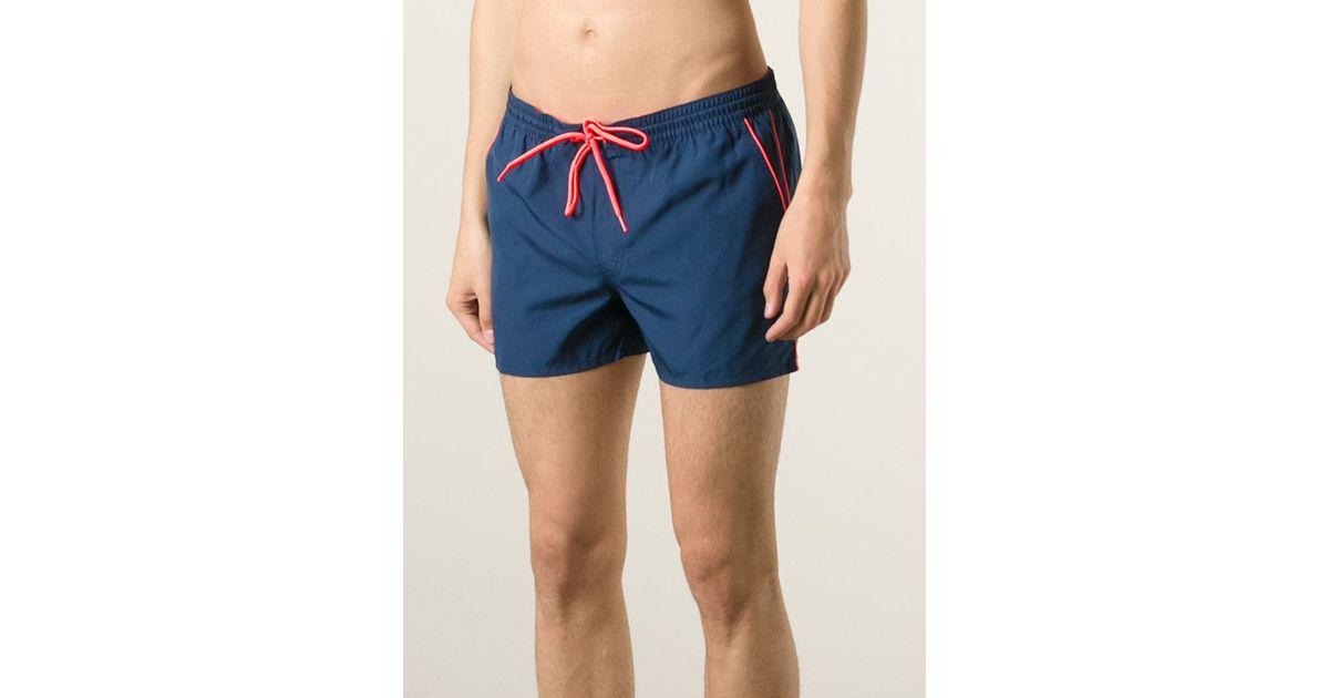 eb37b679e7 Lyst - Sundek Piped Swim Shorts in Blue for Men