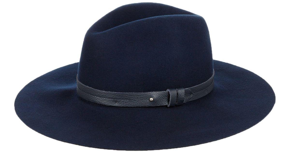 983c32ed00691f Rag & Bone Wide-brim Wool Fedora Hat in Blue - Lyst