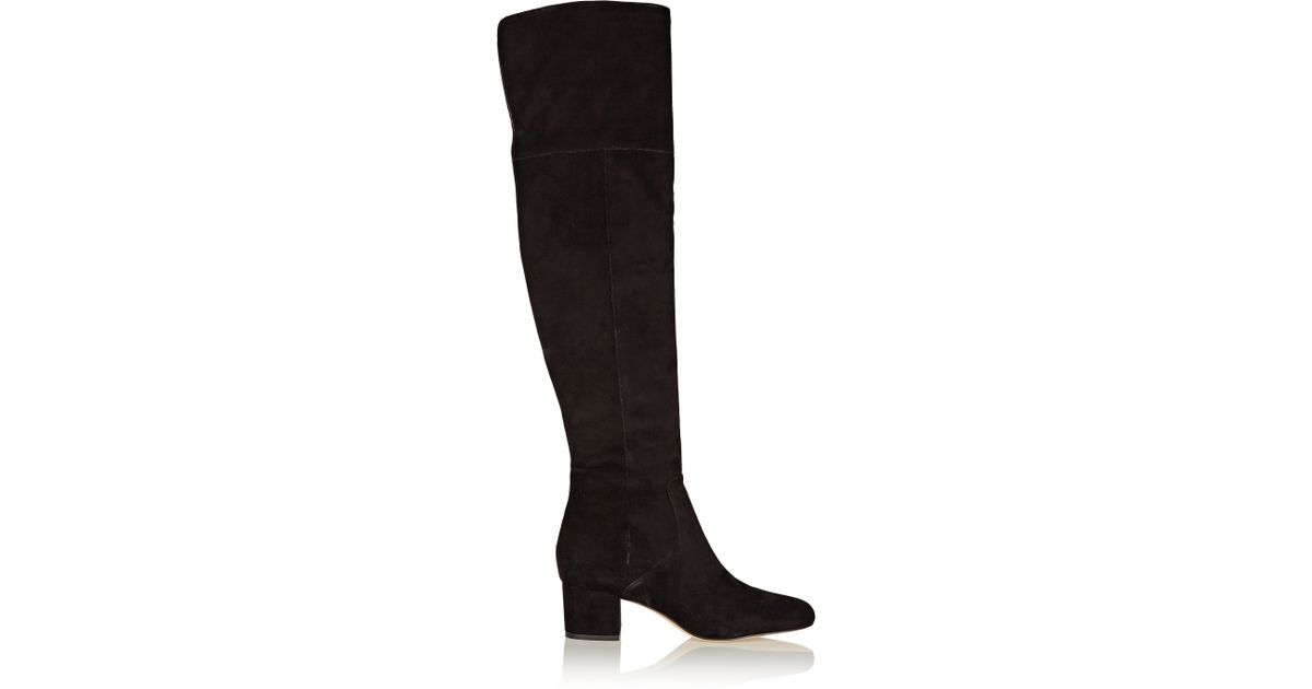 f5a30ea531a45 Sam Edelman Elina Suede Over-the-knee Boots in Black - Lyst