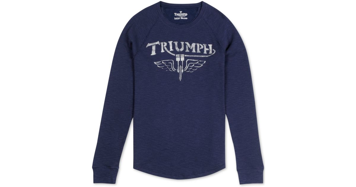 Lucky Brand Men 39 S Triumph Graphic Thermal T Shirt In Blue