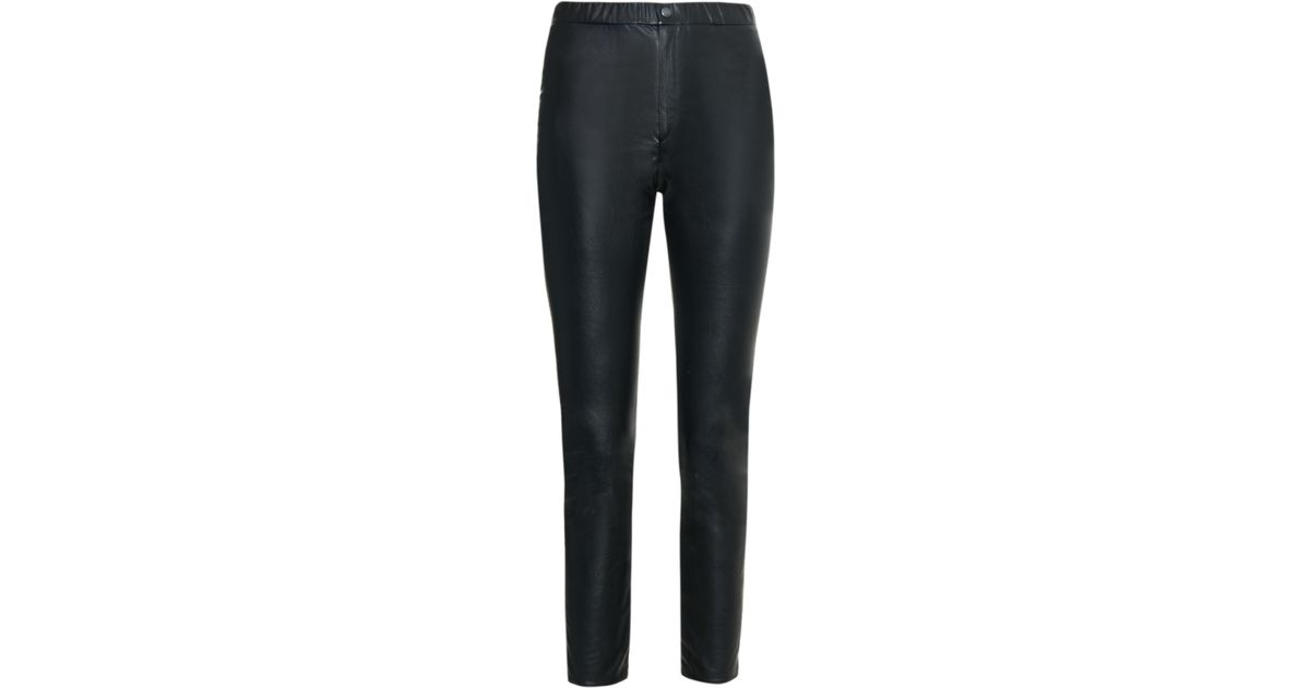 31144ebed11 Étoile Isabel Marant Jeffery Faux-leather Leggings in Black - Lyst