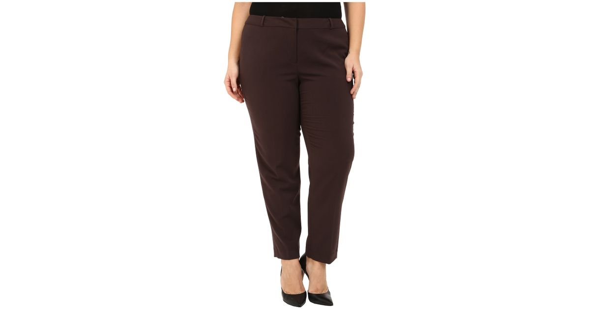 1db78e2db53 Lyst - MICHAEL Michael Kors Plus Size Wellesley Ankle Pants in Brown